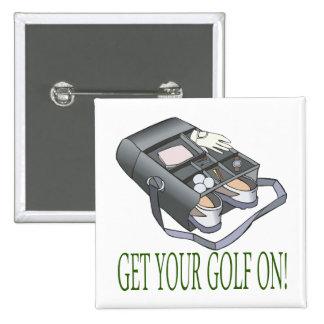 Consiga su golf encendido pin