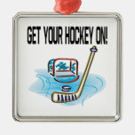 Consiga su hockey encendido adorno