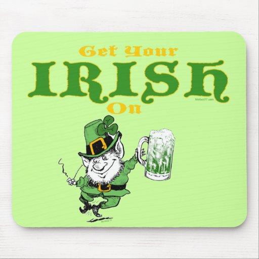 Consiga su irlandés en el Leprechaun Mousepad Alfombrillas De Ratón