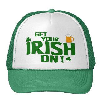 ¡Consiga su irlandés encendido!   Gorra del día de