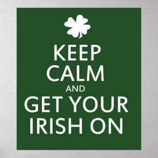 Consiga su irlandés encendido poster
