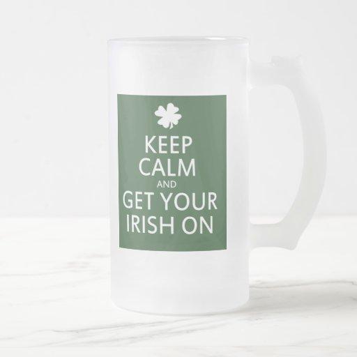 Consiga su irlandés encendido tazas
