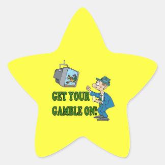 Consiga su juego en 2 pegatina en forma de estrella