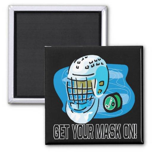 Consiga su máscara encendido imanes para frigoríficos