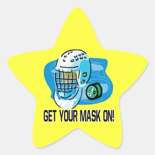 Consiga su máscara encendido pegatinas forma de estrella personalizadas