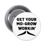 Consiga su MES crecen el botón de trabajo del bigo Pin