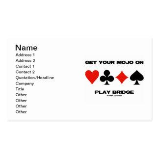 Consiga su Mojo en el puente del juego (cuatro jue Plantillas De Tarjetas Personales