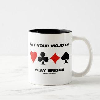 Consiga su Mojo en el puente del juego (cuatro Taza De Café De Dos Colores