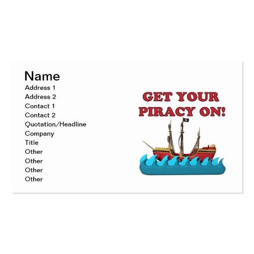 Consiga su piratería encendido tarjetas de visita
