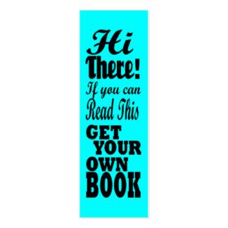 Consiga su propia señal del viajero del libro tarjetas de visita
