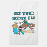 Consiga su rodeo encendido toalla