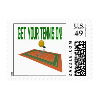 Consiga su tenis encendido sello