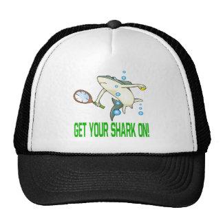Consiga su tiburón encendido gorras de camionero
