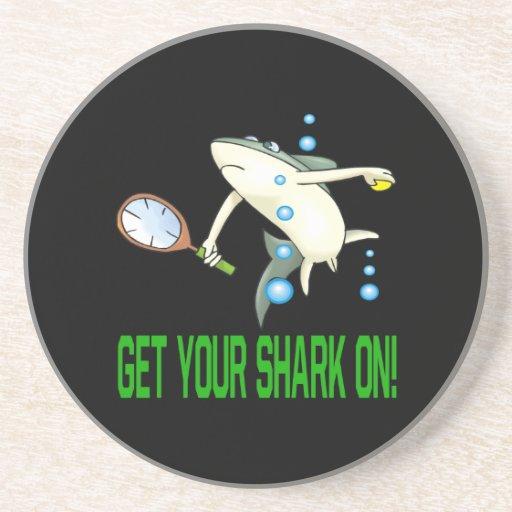 Consiga su tiburón encendido posavasos manualidades