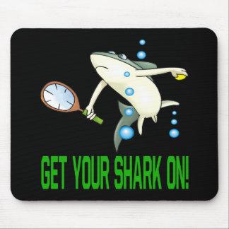 Consiga su tiburón encendido tapetes de raton