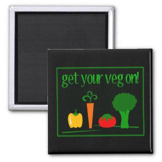 ¡Consiga su Veg encendido Con Veggies clasificado Imanes