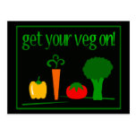 ¡Consiga su Veg encendido! Con Veggies clasificado Tarjetas Postales