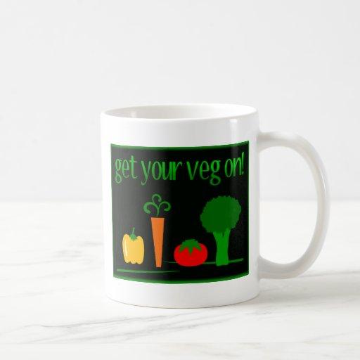 ¡Consiga su Veg encendido! Con Veggies clasificado Tazas De Café