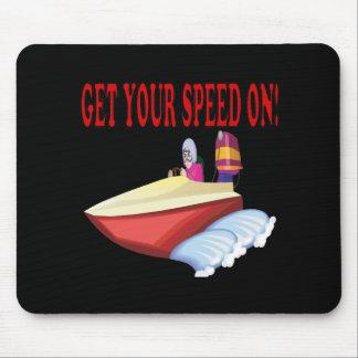 Consiga su velocidad encendido alfombrillas de raton