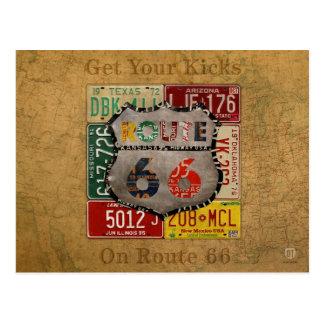 Consiga sus retrocesos en arte de la placa de la r postales