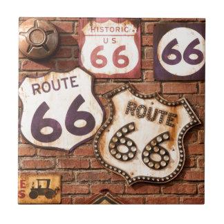 Consiga sus retrocesos en la ruta 66 teja