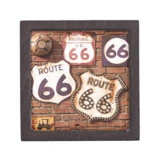 Consiga sus retrocesos en la ruta 66 cajas de recuerdo de calidad