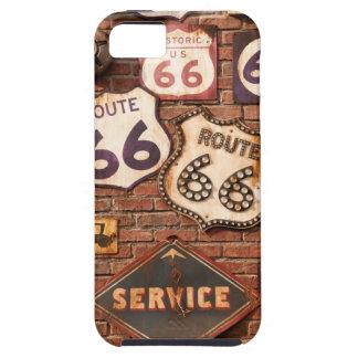 Consiga sus retrocesos en la ruta 66 iPhone 5 fundas