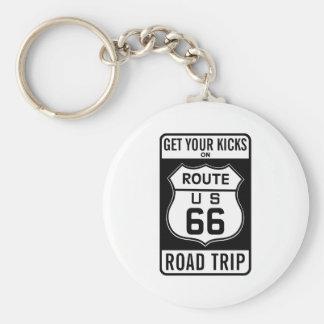 Consiga sus retrocesos en la ruta 66 llaveros personalizados