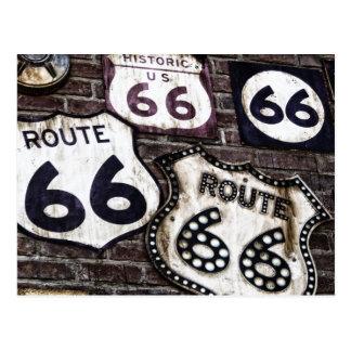 Consiga sus retrocesos en la ruta 66 postales