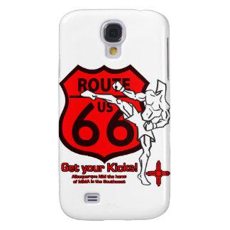 ¡Consiga sus retrocesos en la ruta 66! rojo blanco Funda Samsung S4