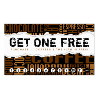 consiga un CAFÉ libre Tarjetas Personales