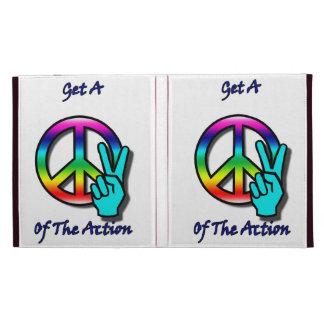 """Consiga un pedazo """"paz"""" de la acción"""