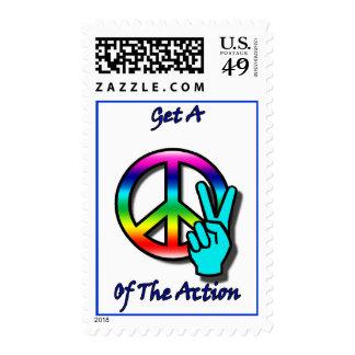 """Consiga un pedazo """"paz"""" de la acción franqueo"""