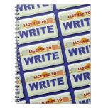 Consiga una licencia de escribir libro de apuntes