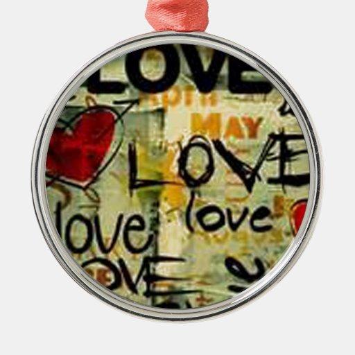 Consiga una poca pintada del amor adorno