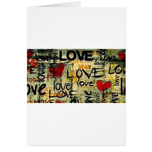 Consiga una poca pintada del amor tarjeta de felicitación