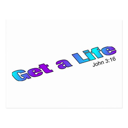 Consiga una vida, artículo religioso del regalo postales