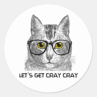 Consigamos a Cray Cray Pegatina Redonda