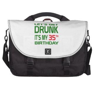 Consigamos bebidos le es mi 35to cumpleaños bolsas para portátil