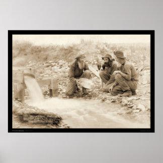 Consigamos el oro rico SD 1889 de la toma panorámi Póster
