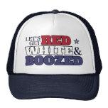 Consigamos gorra rojo, blanco y emborrachado