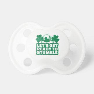 Consigamos listos para tropezar irlandés chupetes de bebé