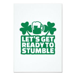 """Consigamos listos para tropezar irlandés invitación 3.5"""" x 5"""""""