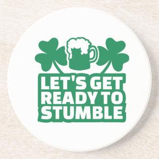 Consigamos listos para tropezar irlandés posavasos para bebidas