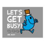 Consigamos ocupados (el texto blanco) postales
