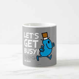 Consigamos ocupados (el texto blanco) tazas