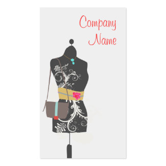Consignment Fashion Accessory Boutique Business Card