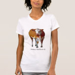 Consigo a veces cambiante: Vaca: Pastel: MOO: Camiseta