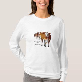 Consigo a veces cambiante: Vacas: Pastel: MOO: Playera
