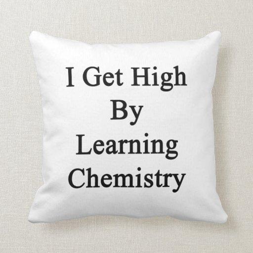 Consigo alto aprendiendo química almohada